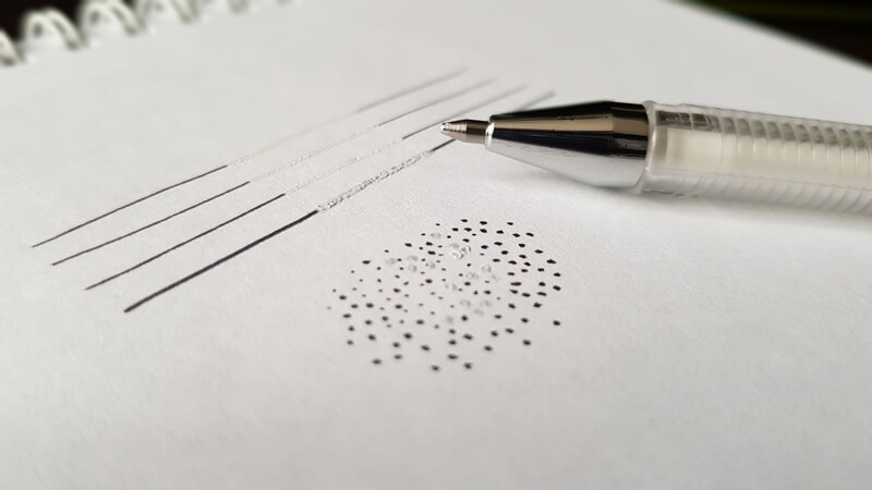 Draw with a pen and also correct your mistakes with a pen